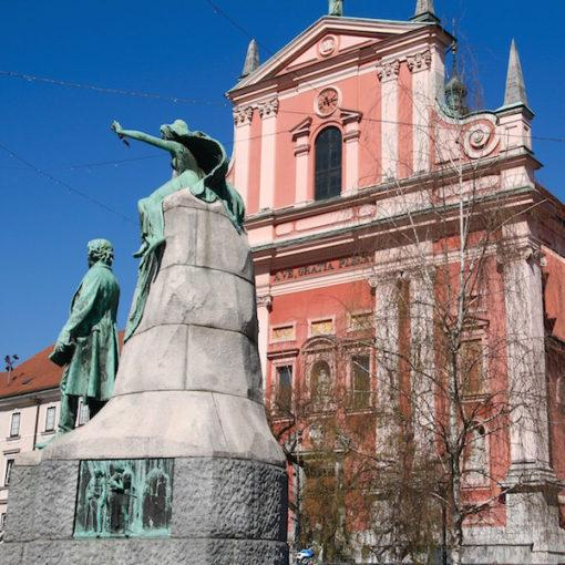 ljublana-pink-church-travel-hidden-gems-things-to-do-walking-tour-history-friends-couples-groups-activities